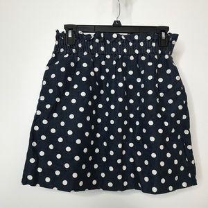J. Crew Paper Bag Skirt Size 4 Polka Dot 2 Pockets